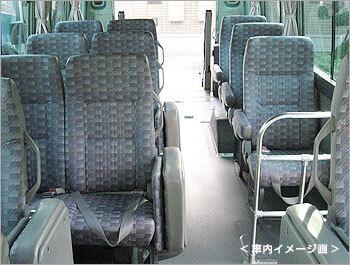 リフト付マイクロバス車内