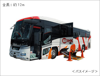 リフト付大型バス外観