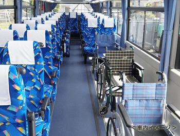 リフト付大型バス内観
