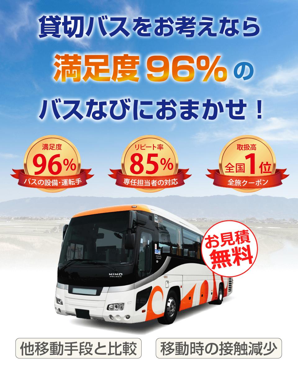 満足度96%のバスなび