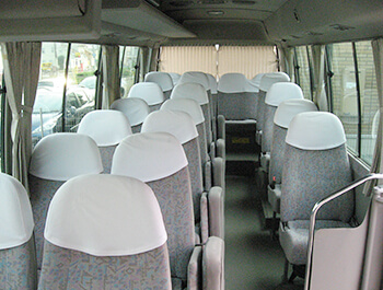 マイクロバス車内イメージ