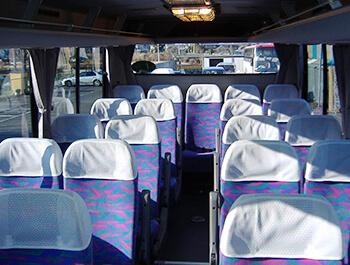 小型バス座席イメージです。