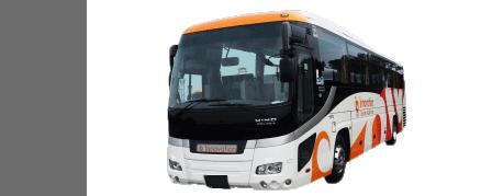 大型バス、53名乗り